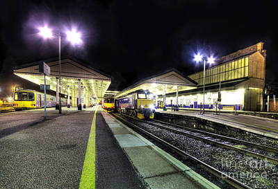 Exeter St Davids By Night  Print by Rob Hawkins