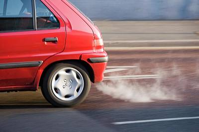 Exhaust Pipe Photograph - Exhaust Fumes From A Car Exhaust by Ashley Cooper