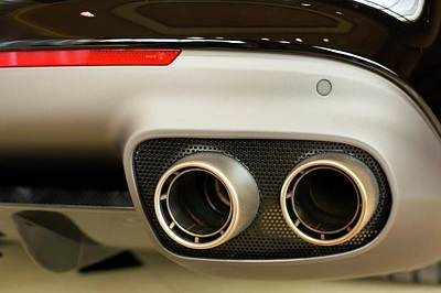 Exhaust Pipes Of A Ferrari California Print by Jim West