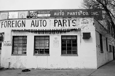 Black And White Photograph - Exide Since 1888 by Nathan Larson