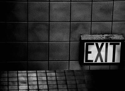Photograph - Exit by Bob Wall