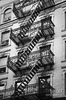 New York City Fire Escapes Photograph - Exit by Delphimages Photo Creations