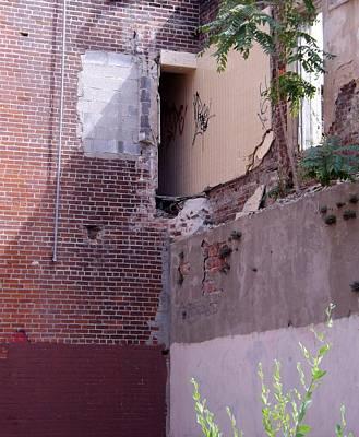 Urban Deconstruction Photograph - Exit by Elizabeth Sullivan