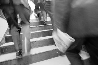 Photograph - Exit Feet Subway by Dave Beckerman