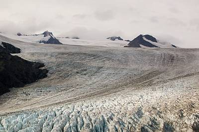 Albedo Photograph - Exit Glacier In The Kenai Fjords by Ashley Cooper