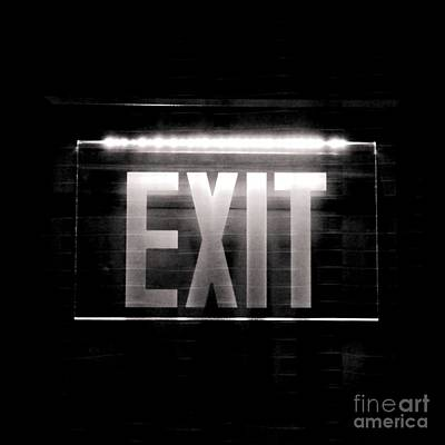 Photograph - Exit- In Bw by Darla Wood