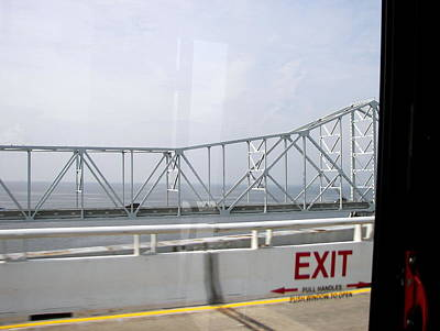 Photograph - Exit On Chesapeake Bay Bridge by Pamela Hyde Wilson