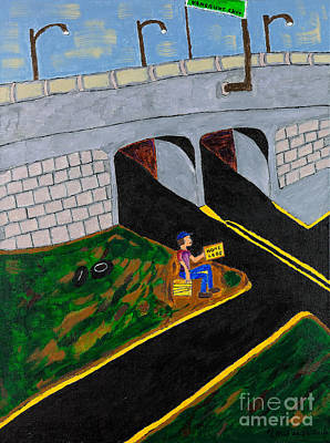 Hard Times Painting - Exit  by Robyn Louisell
