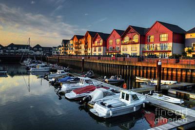Cabin Cruiser Photograph - Exmouth Marina  by Rob Hawkins