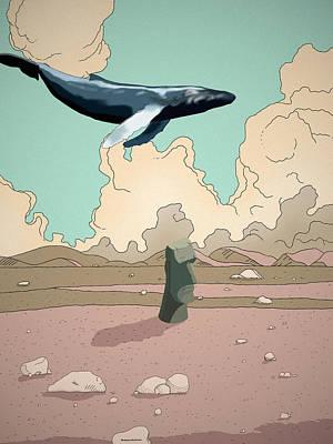 Whale Digital Art - Exodus by Bollmann Benjamin