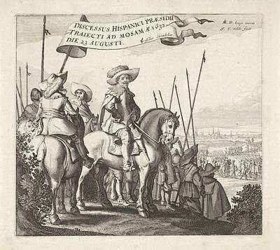 Maastricht Drawing - Exodus From The Spanish Army From Maastricht by Jan Van De Velde (ii) And Claes Jansz. Visscher (ii)
