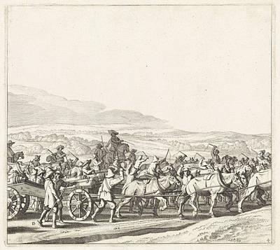 Maastricht Drawing - Exodus From The Spanish Army From Maastricht by Jan Van De Velde (ii) And Jan Martszen De Jonge And Claes Jansz. Visscher (ii)