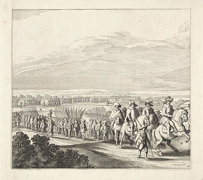 Maastricht Drawing - Exodus From The Spanish Army From Maastricht by Jan Van De Velde Ii And Jan Martszen Young And Claes Jansz. Visscher Ii