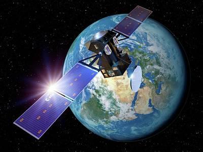 Exomars Orbiter Leaving Earth Art Print by Detlev Van Ravenswaay