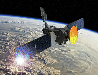 Exomars Spacecraft At Earth Art Print by European Space Agency/d. Ducros