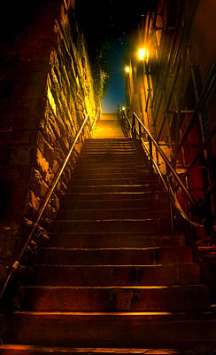 Photograph - Exorcist Stairs by Mark Andrew Thomas