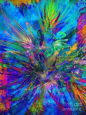 Abstract Digital Digital Art - Exotic Dream Flower by Klara Acel
