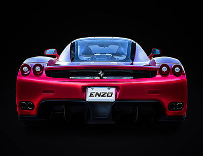 Supercars Digital Art - Exotic Ferrari Enzo by Douglas Pittman