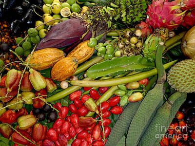 Spinach Photograph - Exotic Fruits by Carey Chen