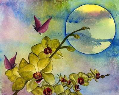 Painting - Exotic Moon by Diane Ferron