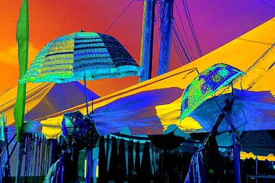 Photograph - Exotic Parasols by Marianne Dow