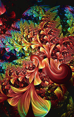 Digital Art - Exotic Plant Life by Lea Wiggins