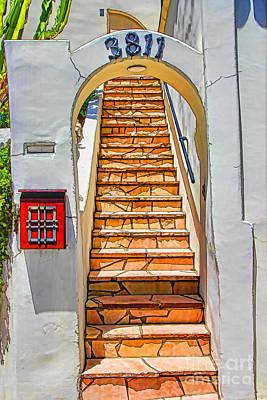 Exotic Stairs Art Print