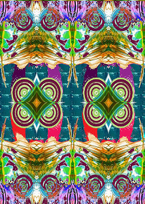 Painting - Exotic Vertical Twin Graphic Art  Navinjoshi  Download Rights Managed Images Graphic Design Is A Str by Navin Joshi