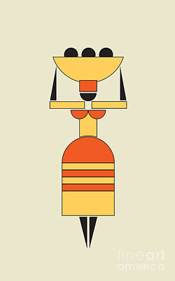 Exotic Woman Carrying Food On The Head  Art Print