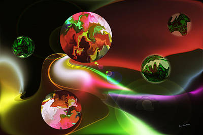 Multicolored Digital Art - Exotic Worlds by Kae Cheatham
