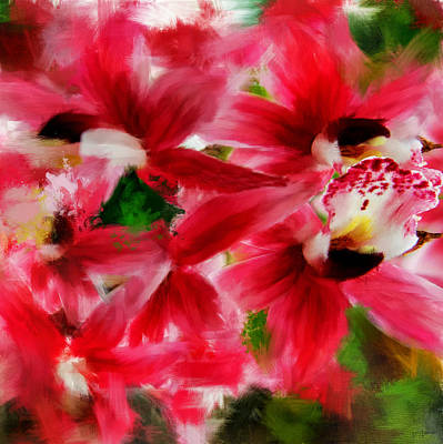 Florals Digital Art - Exotically Pink by Lourry Legarde