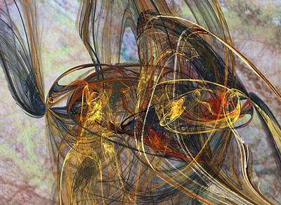 Walsh Digital Art - Expanding Universe by Donna Walsh