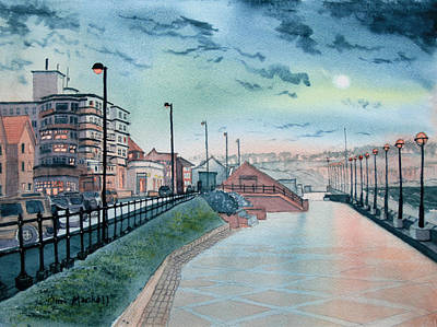 Painting - Expanse Hotel And South Promenade In Bridlington by Glenn Marshall