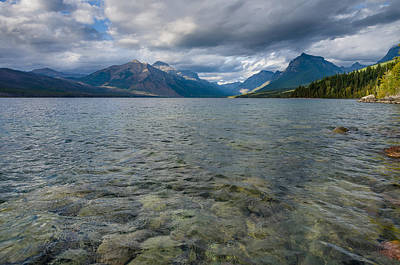 Photograph - Expanse Of Lake Mcdonald by Greg Nyquist