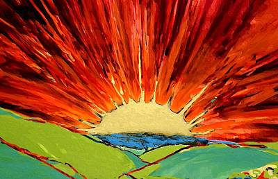 Cbs Sunday Morning Suns Painting - Expansion  by Mary Sonya  Conti
