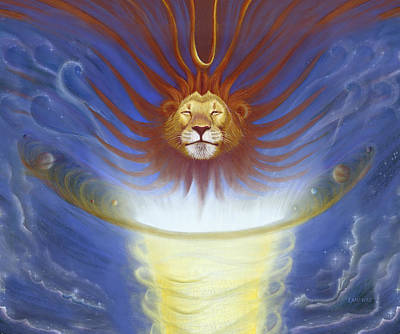 Jesus Drawing - Expansive Lion by Robin Aisha Landsong