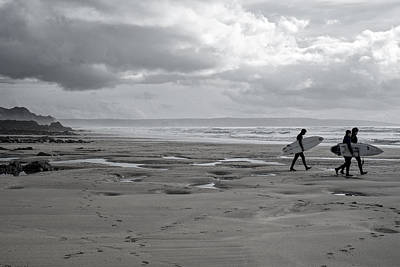 Photograph - Expectant Surfers by Christopher Rees