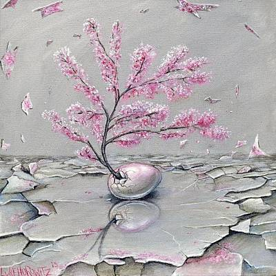 Cherry Blossoms Painting - Expectation by Luke Horowitz