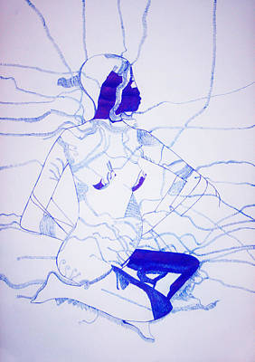 Fertility Drawing - Expecting by Gloria Ssali