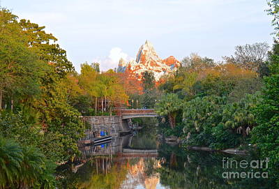 Photograph - Expedition Everest At Sunset by Carol  Bradley