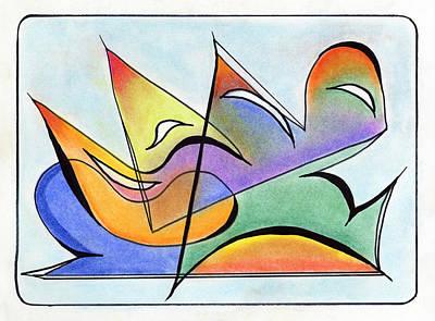 Kandinsky Mixed Media - Experiential by Ilona Montel