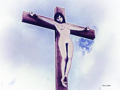 Crucifixion Wall Art - Digital Art - Experimental Crucifix I by Ramon Martinez