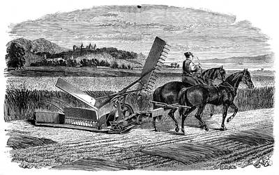 1874 Photograph - Experimental Harvester by Science Photo Library