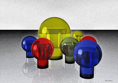 Reflections Digital Art - Experimental Reflections by Ramon Martinez