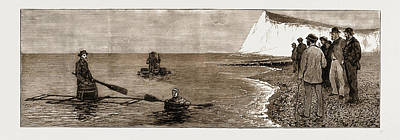 Saving Drawing - Experiments With Novel Life-saving Apparatus At Dover by Litz Collection