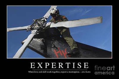 Expertise Inspirational Quote Art Print by Stocktrek Images