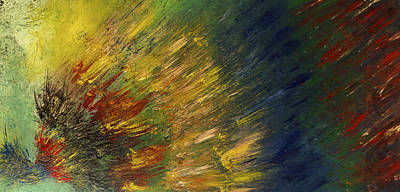 Painting - Exploding Colors Painting-sold by Renee Anderson