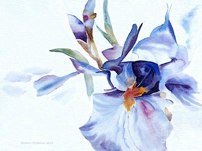 Painting - Exploding Iris by Barbara McMahon
