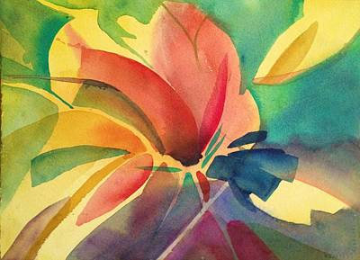 Painting - Exploding Lily by J Worthington Watercolors
