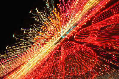Exploding Neon Art Print